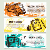 Back to school banners website header set. Stock Image