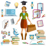 Back to school beautiful female student smile Royalty Free Stock Photo