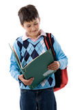 Back to school. Beautiful student boy Stock Photography