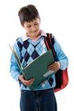 Back to school. Beautiful student boy Stock Photography