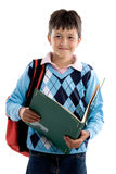 Back to school. Beautiful student boy Royalty Free Stock Images