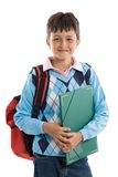 Back to school. Beautiful student boy Royalty Free Stock Photos