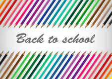 Back to school. And big collection color pencil Royalty Free Stock Images