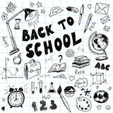 Back to school - big doodles set Royalty Free Stock Photo
