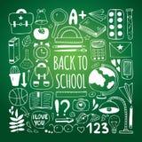 Back to school big doodles set Stock Images