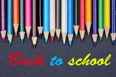 Back to school on black background Stock Images