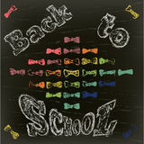 Back to school on a black board Stock Photo