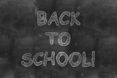 Back to school on black chalkboard Stock Images