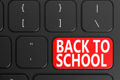 Back to School on black keyboard Stock Photography