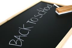 Back to school on blackboard Stock Photos