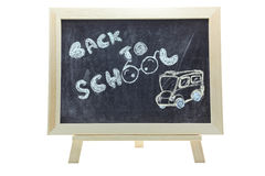 Back to school blackboard Stock Image