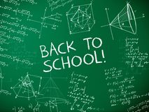 Back to school blackboard. Illustration Royalty Free Stock Photo