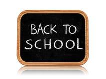 Back to school on blackboard. Back to school 3d  blackboard with chalk text Stock Photography