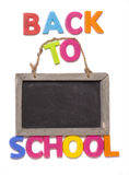 Back to school with blackboard Royalty Free Stock Image
