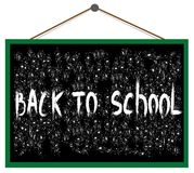 Back to school on the blackboard. Vector text back to school on the blackboard Royalty Free Stock Photo
