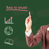 Back to school blackboard Stock Photo
