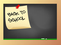 Back to school on blackboard Royalty Free Stock Photography