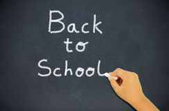 Back to school in the blackboard Royalty Free Stock Photo