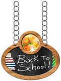 Back to School - Blackboard with Chain Stock Photo