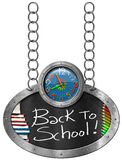 Back to School - Blackboard with Chain Stock Images