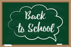 Back to school. Blackboard with chalk drawn inscription in speech bubble Royalty Free Stock Images