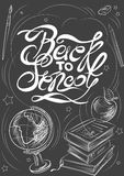 Back to school on the blackboard Stock Photography