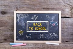 BACK TO SCHOOL on blackboard. Knowledge Education Academics Stud. Y Concept Royalty Free Stock Image