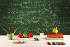 Back to school blackboard with numbers Royalty Free Stock Image