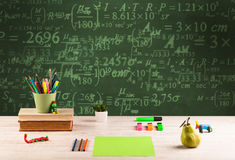 Back to school blackboard with numbers Royalty Free Stock Photography