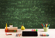 Back to school blackboard with numbers Royalty Free Stock Photo