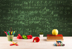 Back to school blackboard with numbers Stock Images