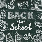 Back to school blackboard poster Royalty Free Stock Photo