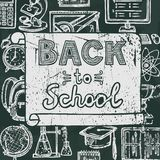 Back to school blackboard poster Stock Photos
