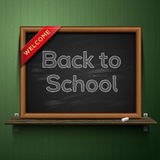 Back to school, blackboard on the shelf Royalty Free Stock Photography