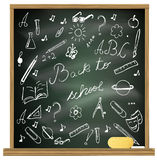Back to school blackboard Royalty Free Stock Photography