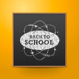 Back to school, blackboard on the wall, vector Royalty Free Stock Photos