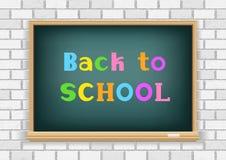Back to school blackboard white wall Stock Photo