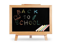 Back to school Blackboard wood frame Stock Photo
