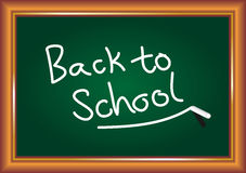 Back to School Blackboard Royalty Free Stock Photos