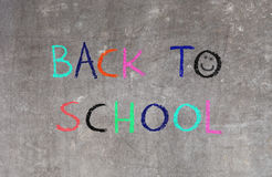 Back to school, blackboard Stock Images