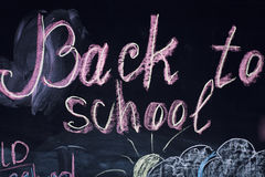 Back to school on the blackboard Stock Image