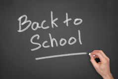 Back to School. Blackboard with a back to school wrote on it Stock Photo