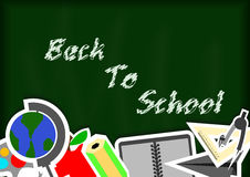 Back to school with blackground and stationery Stock Photo