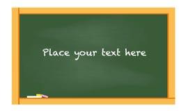 Back to school blank chalkboard vector Royalty Free Stock Image