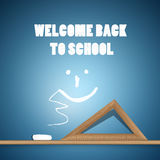 Back to School Blue Background Royalty Free Stock Photography