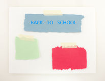 Back To School Blue Green And Red Background Royalty Free Stock Images