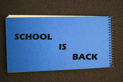 Back to school blue notepad Stock Image