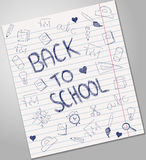 Back to school blue pen ink Stock Photography