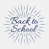 Back to School, Vector lettering illustration on grey background. Back to School, Blue Vector lettering illustration on grey background royalty free illustration