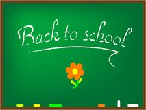Back to school board Royalty Free Stock Photo